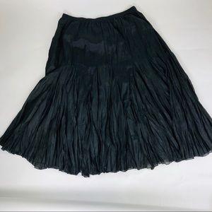 Ashley Stewart Maxi Full Modest Skirt 2X Black